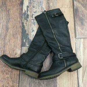 "Bongo ""Dixie"" Size 6 Black Boots 16"" Tall"